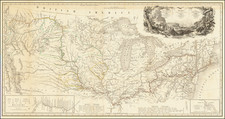 Map to Illustrate the Route of Prince Maximilian of Wied in the Interior of North America from Boston to the Upper Missouri, etc, in 1832, 33, & 34 By Karl Bodmer / Prince Alexander Phillip Maximilian zu Wied