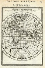 World and Eastern Hemisphere Map By Alain Manesson Mallet