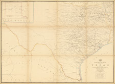 South, Texas and Oklahoma & Indian Territory Map By Post Office Department  &  W. L. Nicholson