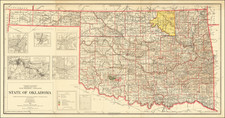 Oklahoma & Indian Territory Map By General Land Office