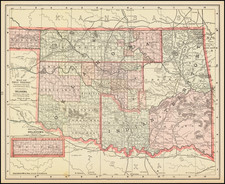 Oklahoma & Indian Territory Map By Mast, Crowell & Kirkpatrick