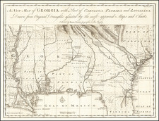 A New Map of Georgia, with Part of Carolina, Florida and Louisiana.  Drawn from Original Draughts assisted by the most approved Maps and Charts.  Collected by Eman: Bowen . . .  By Emanuel Bowen