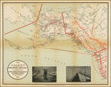 Alaska and California Map By I. P. Berthrong