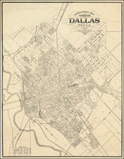 Texas Map By William A. Flamm