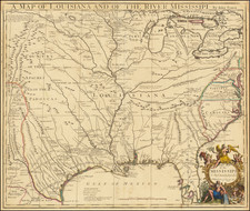United States, South, Southeast, Texas, Midwest and Plains Map By John Senex
