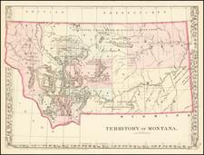 Montana Map By Samuel Augustus Mitchell Jr.