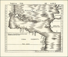 World, Atlantic Ocean, North America, South America and America Map By Martin Waldseemüller