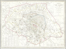 Paris Map By Ambroise Tardieu