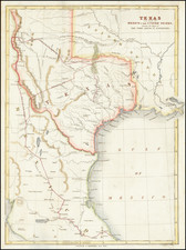 Texas, Plains and Southwest Map By W. Kemble