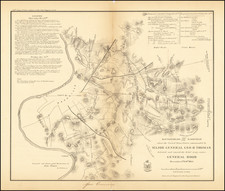 Tennessee and Civil War Map By Bowen & Co. / M. Peseux