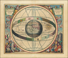 Eastern Hemisphere, Indian Ocean and Celestial Maps Map By Andreas Cellarius