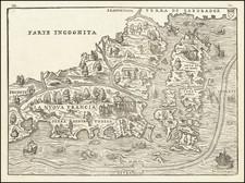 La Nuova Francia By Giovanni Battista Ramusio / Giacomo Gastaldi