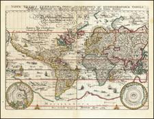World and World Map By Matthaus Merian