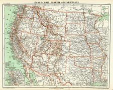 Plains, Southwest and Rocky Mountains Map By F.A. Garnier