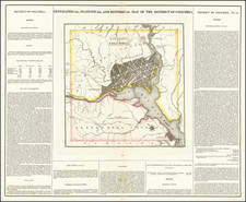 Geographical, Statistical and Historical Map of The District of Columbia By Henry Charles Carey  &  Isaac Lea