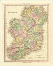 Ireland Map By Henry Schenk Tanner