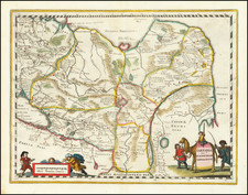 China, Central Asia & Caucasus and Russia in Asia Map By Matthaus Merian