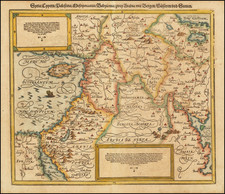 Cyprus, Middle East, Holy Land and Turkey & Asia Minor Map By Sebastian Munster