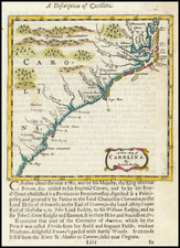 A New Map of Carolina By Robert Morden