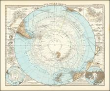 Polar Maps Map By Adolf Stieler