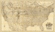 United States Map By Union Pacific Railroad Company