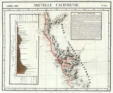 California Map By Philippe Marie Vandermaelen