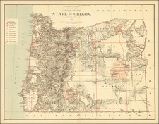 State of Oregon 1879 By U.S. General Land Office