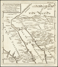 Southwest, Mexico, Baja California and California Map By Emanuel Bowen / Fr. Eusebio Kino