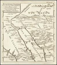 Southwest, Mexico, Baja California and California Map By Emanuel Bowen / Fr. Eusebio Kino