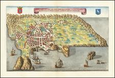 Atlantic Ocean, Portugal and European Islands Map By Matthaus Merian
