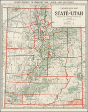 Utah and Utah Map By The Clason Map Company