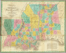 Louisiana, Alabama and Mississippi Map By Anthony Finley