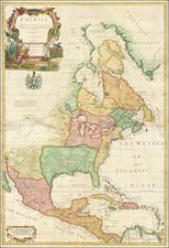 North America Map By John Senex