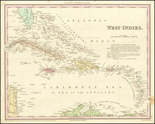 Caribbean Map By Henry Schenk Tanner