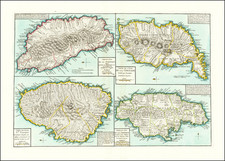 Jamaica, Hispaniola and Other Islands Map By Beteow
