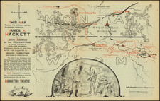 Montana and Wyoming Map By E. L. Duane