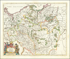 Poland and Baltic Countries Map By Frederick De Wit