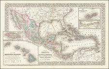 Southwest, Hawaii, Mexico, Caribbean, Australia & Oceania and Hawaii Map By Samuel Augustus Mitchell Jr.