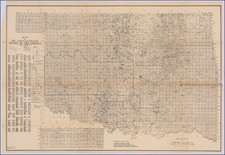 Oklahoma & Indian Territory Map By Commercial Oil Map Company