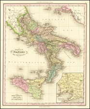 Southern Italy and Sicily Map By Henry Schenk Tanner