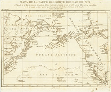 Pacific Northwest, Alaska, Pacific, Russia in Asia and Canada Map By Pedro de Gongora y Lujan,  Duque de Almodovar