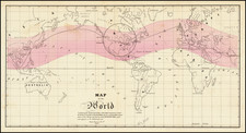 World and Curiosities Map By Sower Barnes & Co.