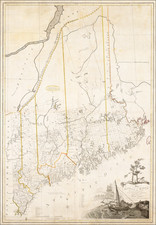 New England and Maine Map By Osgood Carleton