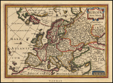 Europe Map By Jodocus Hondius / Gerard Mercator