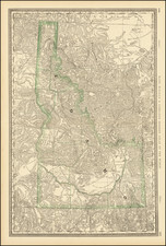 Idaho Map By William Rand  &  Andrew McNally
