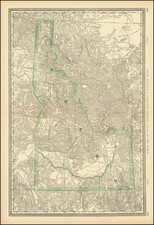 Idaho Map By William Rand  &  Andrew McNally