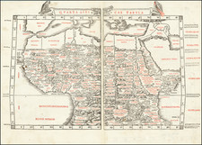 Egypt, North Africa, East Africa and West Africa Map By Bernardus Sylvanus