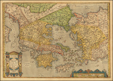 Greece, Turkey, Balearic Islands and Turkey & Asia Minor Map By Abraham Ortelius