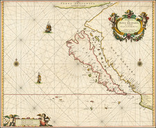 Baja California and California Map By Pieter Goos