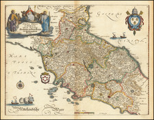 Northern Italy and Southern Italy Map By Matthaus Merian